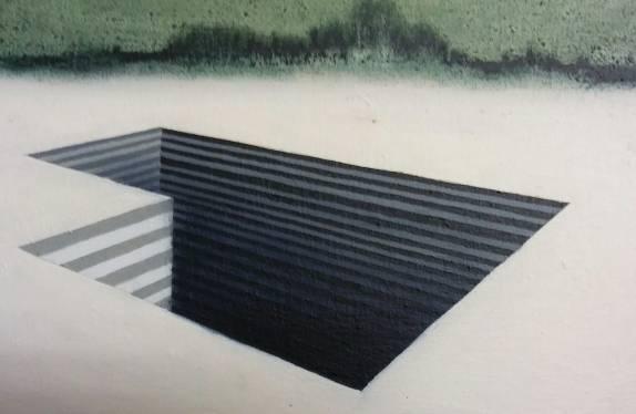 Arenaria #6, olio su tela, 30x20 cm, 2018