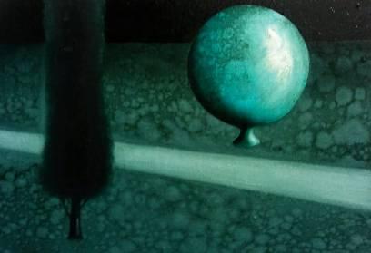 Notturno atramento, olio su tela, 30x20cm, 2018
