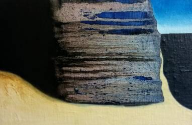 Scogliera, olio su tela 30x20 cm, 2018