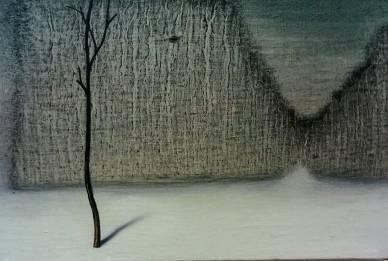 Tempo d'inverno, olio su tela, 30x20 cm, 2018